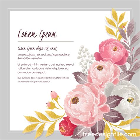 flower design greeting cards vintage flower with greeting card for your text design