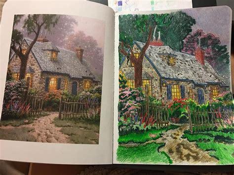 posh adult coloring book thomas kinkade designs