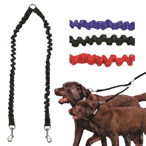 bungee leash pet coupler leash walking lead bungee elastic two dogs leash splitter