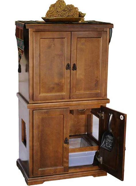 Litter Box Cabinets by F1 Two Door Hidy Tidy Quality Wood Litter Box Cabinets