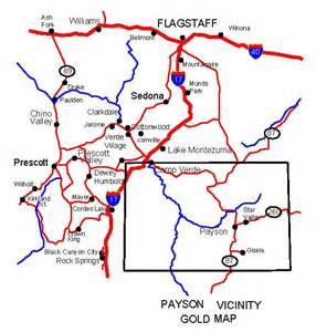 map of payson arizona arizona gold maps gold placers and gold panning and metal