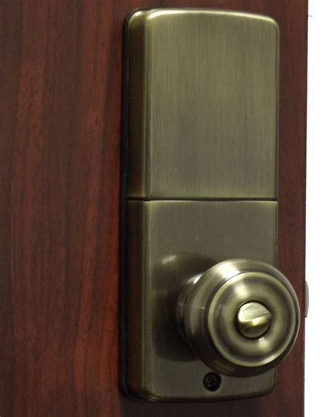 Keyless Door Knobs lockey e digital keyless electronic knob door lock antique brass with remote