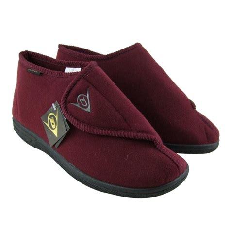mens slipper boots uk mens dunlop ankle boot velcro slipper wide fit slippers