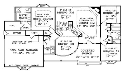large one story house plans big one story house plans big one story house plans