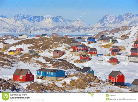 houses in greenland colorful houses in greenland stock photo image of greenlandic greenland 35898094
