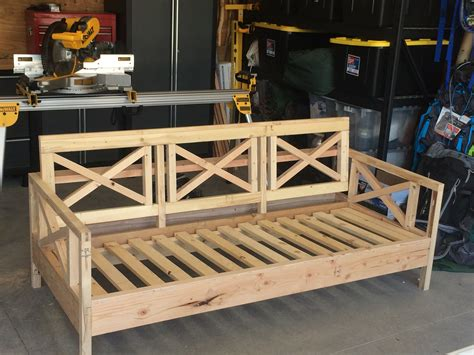 diy wood sofa frame white outdoor sofa mash up diy projects