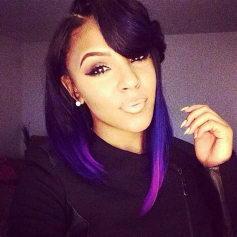 weave hairstyles with purple tips purple weave bob bob weave hairstyles pinterest