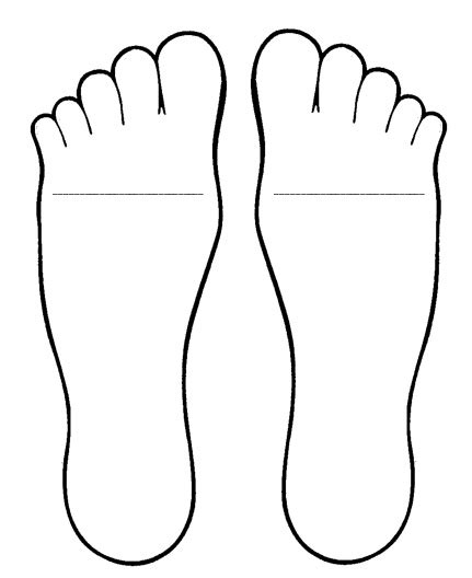 feet template for foot book antonym activity see prior