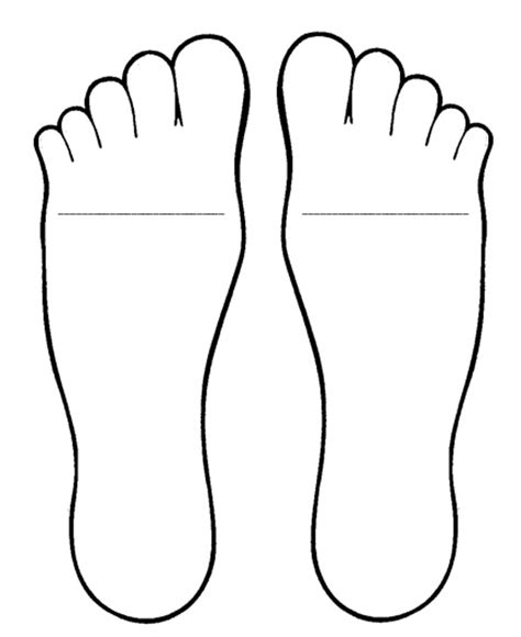 foot template the world s catalog of ideas