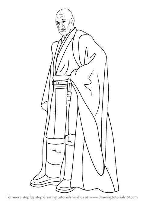 coloring pages mace windu learn how to draw mace windu from wars wars