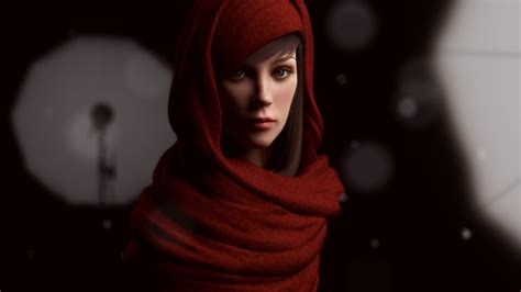 wallpaper girl red girl in a nice red scarf wallpapers and images