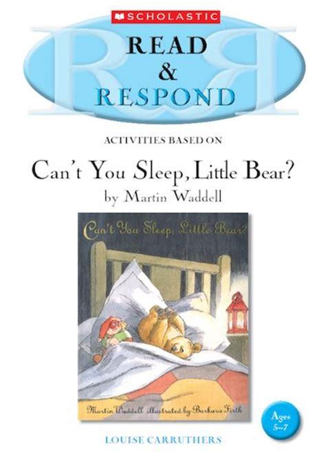 libro cant you sleep little read respond can t you sleep little bear scholastic shop