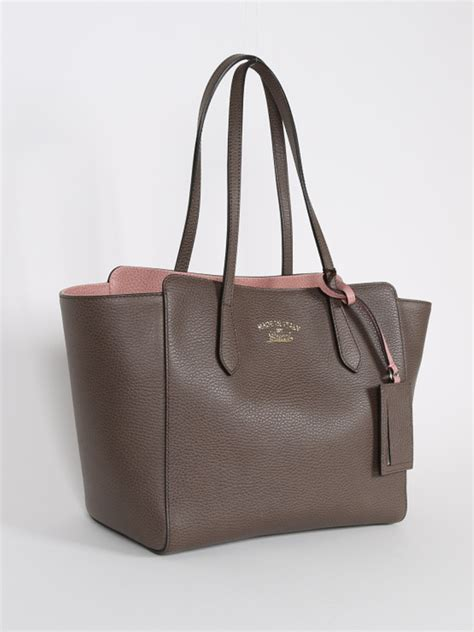 gucci swing leather tote gucci swing small brown leather tote luxury bags
