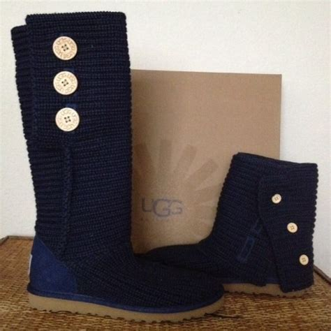 Cardi 3button 44 ugg boots blue uggs 3 button cardy boots
