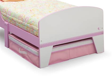 upholstered toddler bed amazon com delta children jack jill toddler bed with