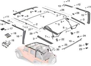 2010 Jeep Wrangler Parts Jeep Wrangler Jk Soft Top Hardware Parts 4 Door Quadratec