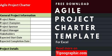 Agile Project Charter Template For Excel Free Download Tipsographic Agile Project Management Templates Free