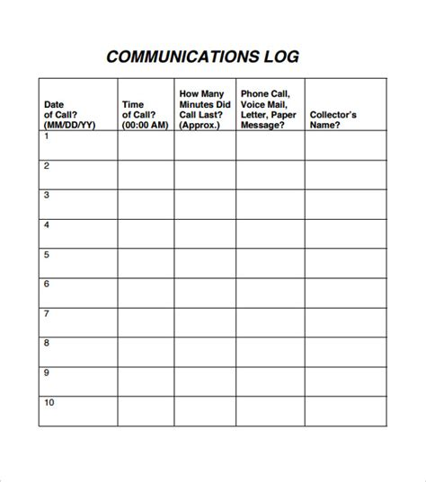 phone call log template call log template ms word file 21