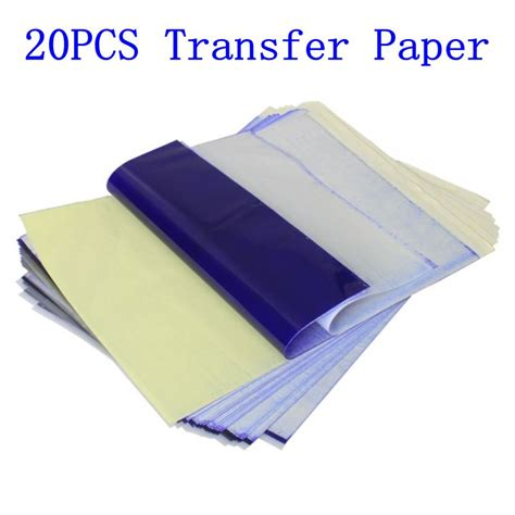 tattoo transfer paper wholesale 20pcs tattoo stencil transfer paper a4 size thermal copier