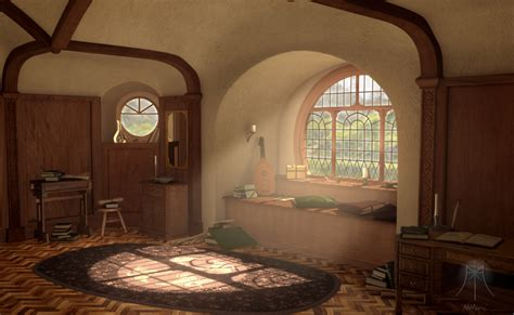 Hobbit Home Interior A Hobbit S Bedroom 3 By Mystermism On Deviantart