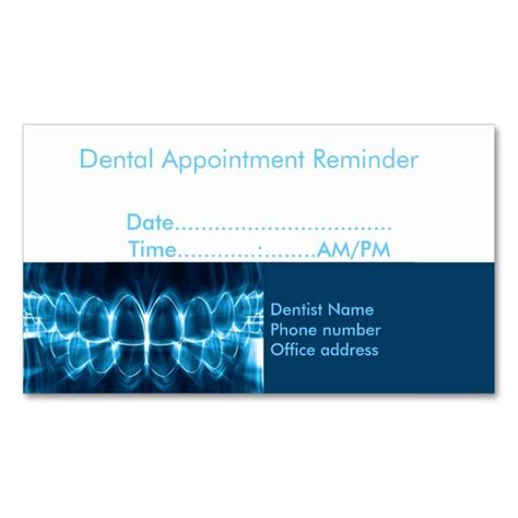 dentist appointment card template 2211 best appointment business card templates images on