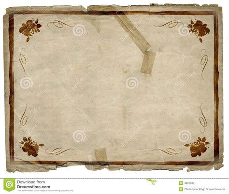 floral border grunge paper background texture stock illustration image 4831033