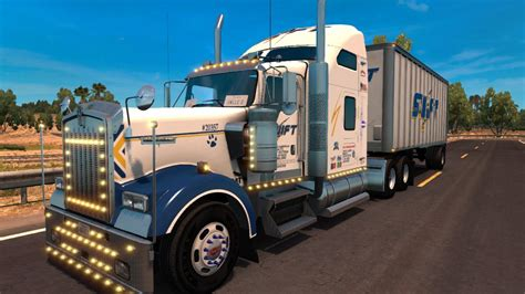 trucking companies with kenworth w900 swift transportation kenworth w900 updated mod for ats