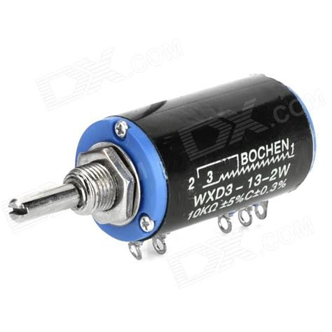 multiturn resistor wxd3 13 2w 10kohm multi turn wirewound precision potentiometer black blue silver free