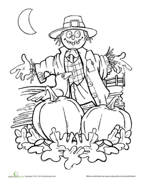 pumpkin scarecrow coloring pages worksheets autumn scarecrow coloring page wicked cool