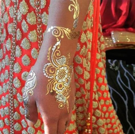 silver ink tattoo gili trawangan sundara by henna lounge gold silver temporary jewerly