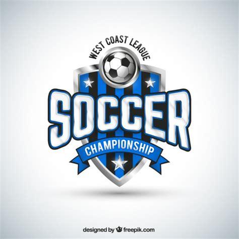 design sports logo photoshop soccer team badge vector free download