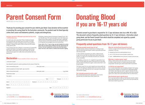 Parents Consent Letter For Blood Donation Parent Consent Form For Blood Donation In Australia For Cross Australian Cross