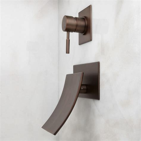 reston wall mount waterfall tub faucet bathroom signature hardware reston wall mount waterfall tub faucet