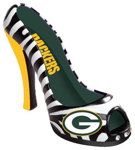 green bay packers high heel shoes green bay packers shoe bottle opener contemporary wine