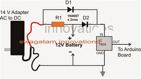 diode pour 12v circuit circuit arduino panne secteur batterie de secours