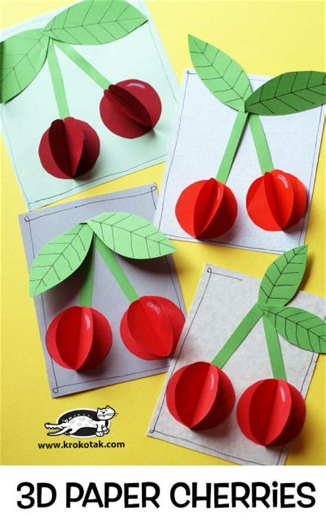 How To Make Fruit Out Of Paper - krokotak children activities more than 2000 coloring pages