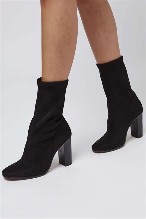 Sock Booties by Hex Sock Fit Ankle Boots Ankle Boots Shoes Topshop