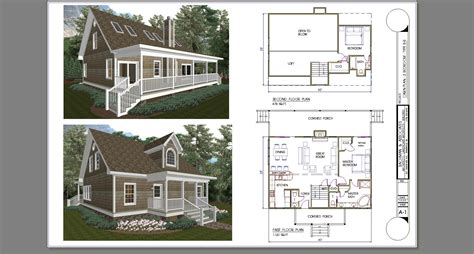 Two Bedroom Cabin Plans | 2 bedroom loft cabin plans joy studio design gallery