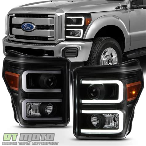 250 Led Headlights by Black Smoke 2011 2016 Ford F250 F350 Superduty Led Drl