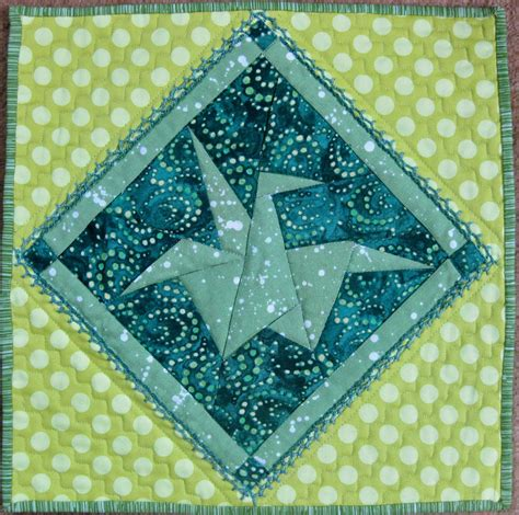 Origami Crane Quilt Pattern - drawing time peace crane a journal quilt