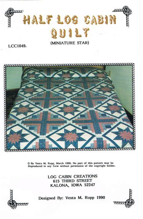 Half Log Cabin Quilt Pattern by Quilt Miniature Half Log Cabin Quilt Pattern