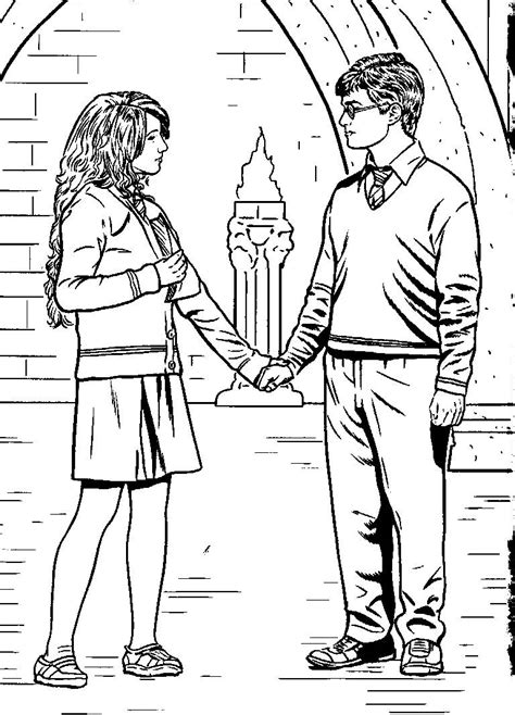 harry potter coloring pages crookshanks harry e hermione coloring pages