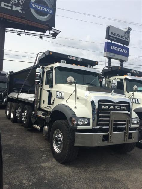 mack gu quad axle dump trucks modern mack truck general discussion bigmacktruckscom