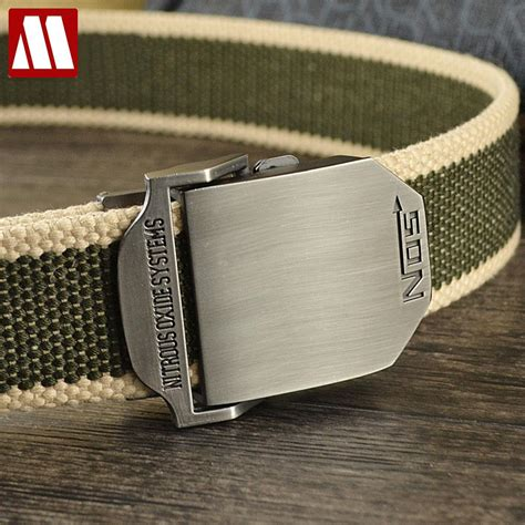tactical belt buckles new 2016 fashion mens canvas belt buckle metal tactical