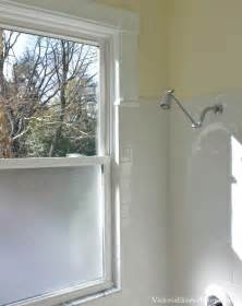 bathroom window in shower ideas solution to the large window in the shower simple diy
