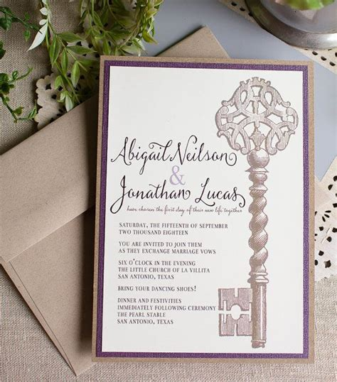 Skeleton Key Wedding Invitations