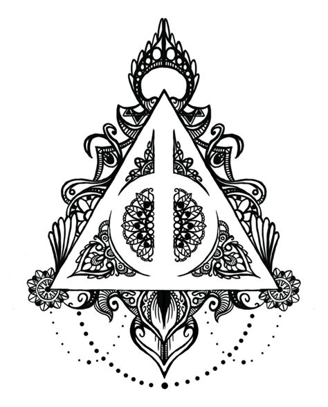 harry potter mandala coloring book harry potter symbol coloring coloring pages