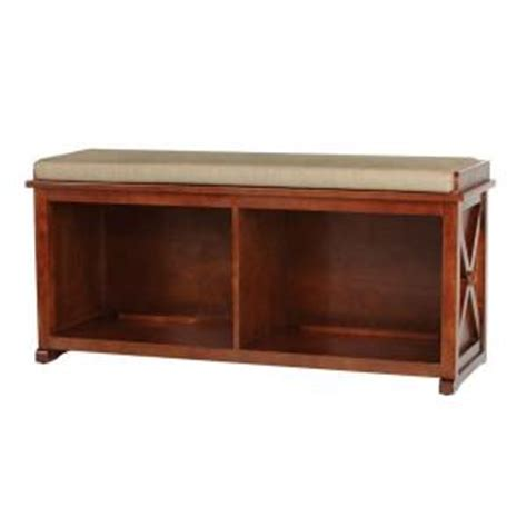 homedepot bench home decorators collection brexley entryway bench in