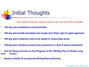 100 Day Business Plan Template by 100 Day Plan For Directing A Pmo