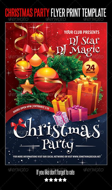 Christmas Party Flyer Print Template Flyer Printing Print Templates And Party Flyer Flyer Celebration Template